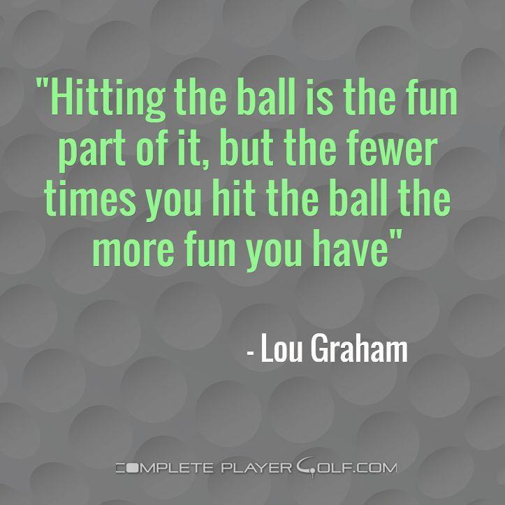 Golf is a strange game!
