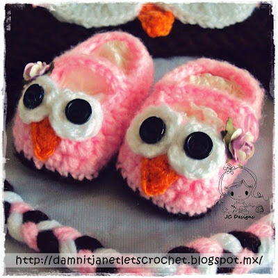 damn it Janet, let's crochet!: Baby Owl Booties FREE pattern.....I wish they had these in adult size! Too cute!!!!