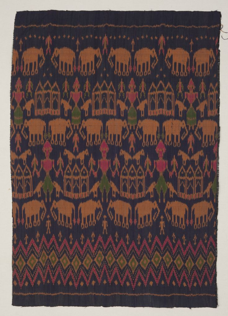 Vintage Cambodian Silk Ikat Textile