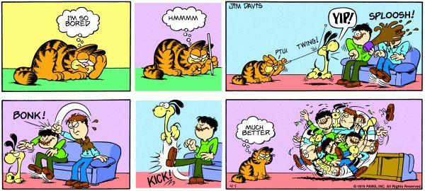 Garfield Comic Strip, April 01, 1979 On GoComics.com