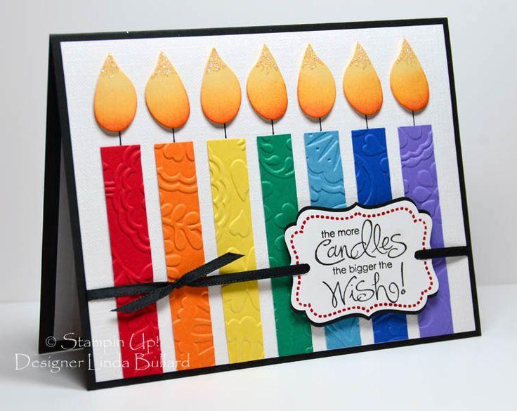 Rainbow Birthday Candles