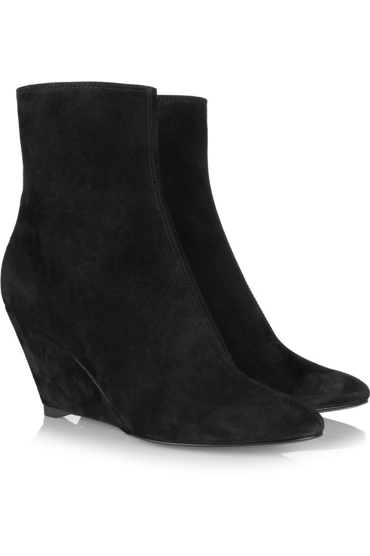 Suede wedge ankle boots by Giuseppe Zanotti