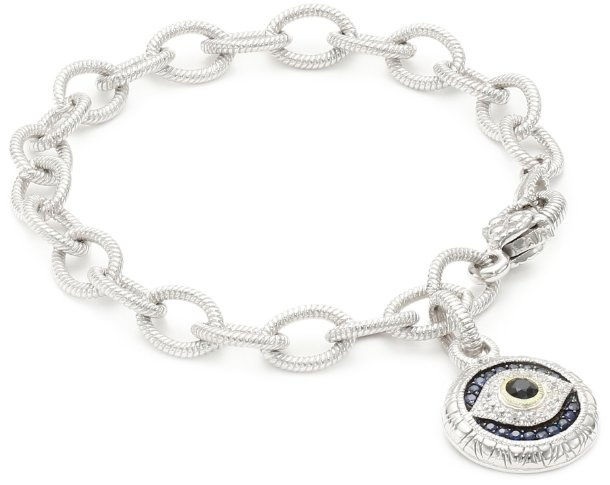 "Judith Ripka ""Lucky"" Evil Eye Charm Bracelet at London Jewelers!"