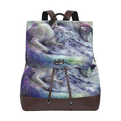 Pu Leder Rucksack Reisetasche stilvolle Casual Daypack für Frauen mädchen Fant… – amazonmode