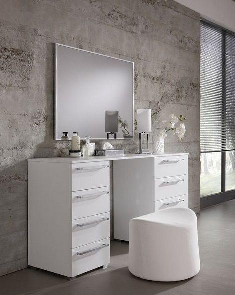 Nolte kaptafel Allegro wit met spiegel, opmaken,make-up    Slaapkenner Theo Bot  Dorpsstraat 162  Zwaag / Hoorn N-H