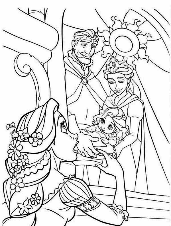 Rapunzel And Flynn Rider Coloring Pages