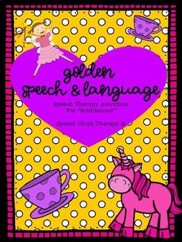 """If you are needing a cute packet of speech therapy for """"Goldilicious,"""" look no more! This packet includes open ended activities for articulation as well as activities for assorted language targets (opposites, synonyms, verbs, catergories, etc). It is full of unicorns and tea parties which goes along perfectly with this book!"""