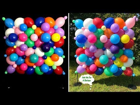 Best 25 balloon wall decorations ideas on pinterest for Balloon decoration ideas youtube