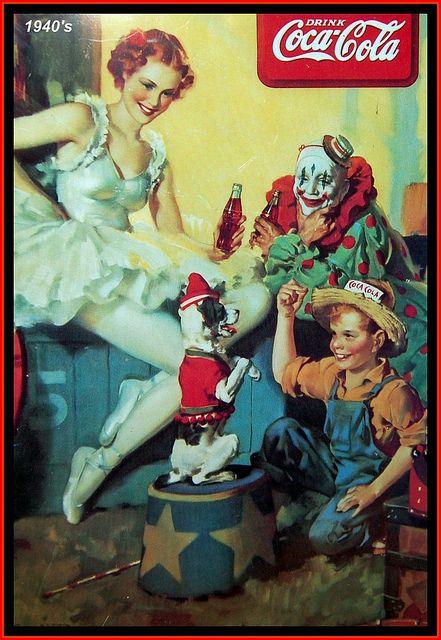 Vintage Coca Cola Plaque: The circus, 1940's by mcudeque, via Flickr