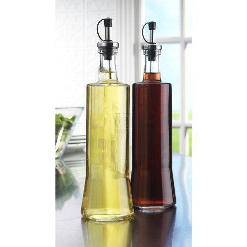 630a463079a6 Details about Oil And Vinegar Clear Glass Dispenser Cruet Bottle ...