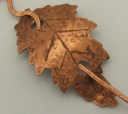 Copper leaf shawl pin - for The shawl you want to make for Linda?