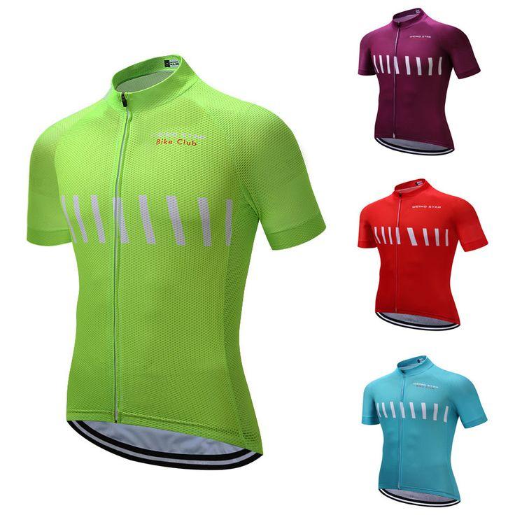 Weimostar Bike Club Men Pro Cycling Jersey MTB Bicycle Short Sleeve Shirts S-3XL #Unbranded