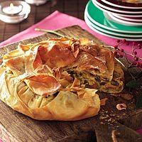 Recept - Krokante champignontaart met gerookte kip - Allerhande