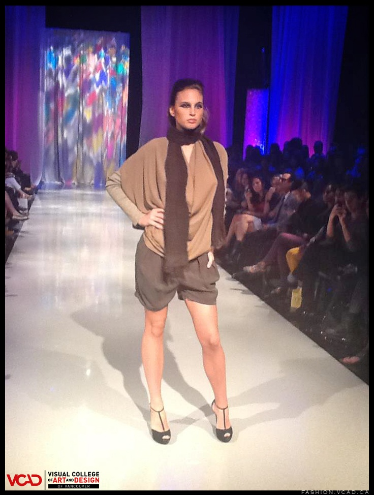 http://fashion.vcad.ca/    #brownscarf #scarf #shorts #brownsweater #sweater