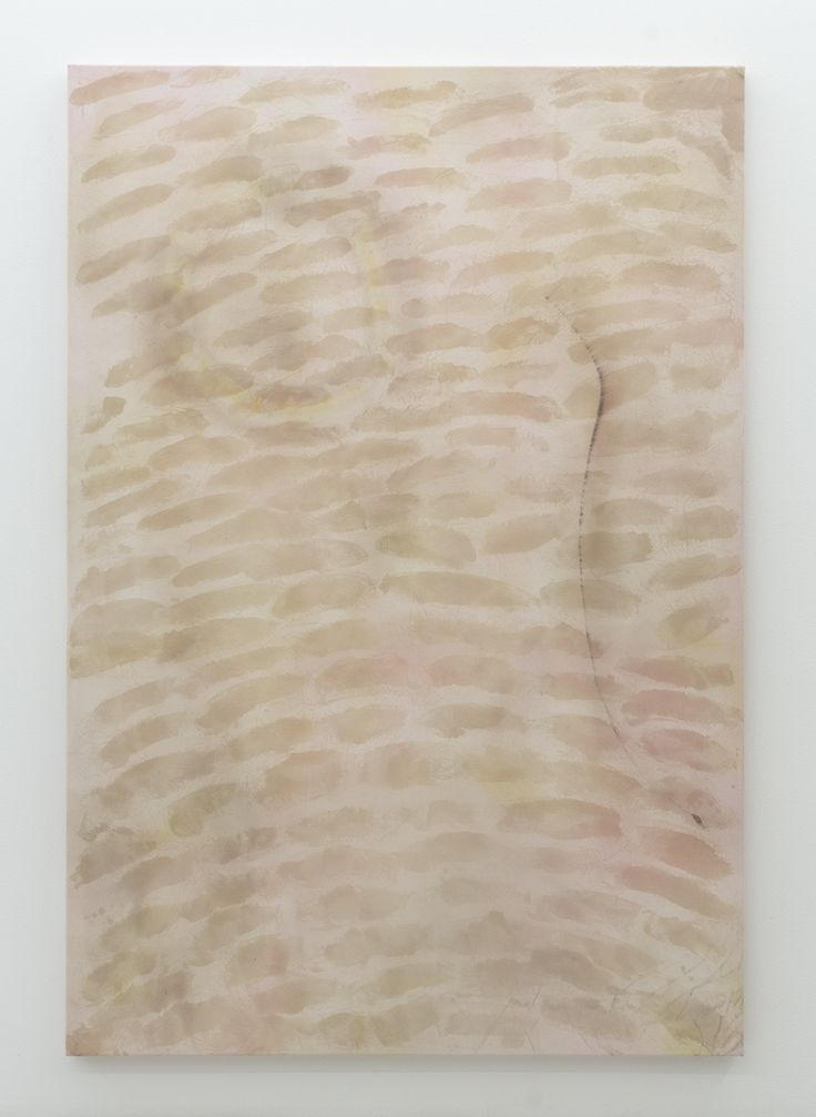 Magni Borgehed: Untitled (13 true stories series #9) 2016 190 x 130 cm Silk paint, ink, oil wax, and bleach on cotton canvas