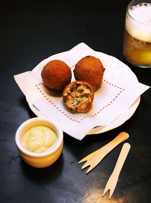 Bitterballen - fried meatballs, Netherlands