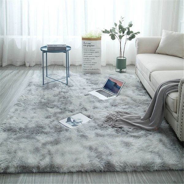 Large Size Super Soft Tie Dye Art Carpet Floor Bedroom Mat
