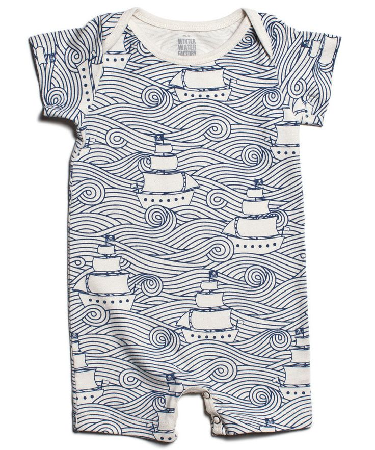 High seas organic baby clothes romper, American made