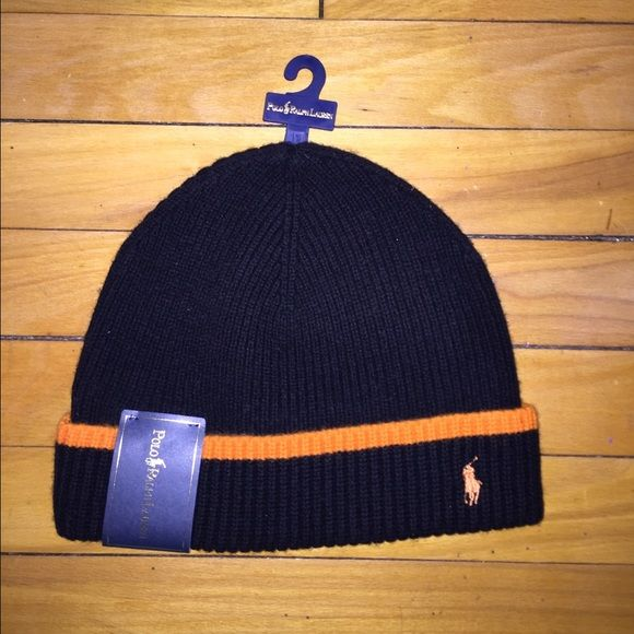 Ralph Lauren Polo Winter Hat Brand new with tags Black and Orange Ralph Lauren Polo winter hat. Brand new. Never Worn. Polo by Ralph Lauren Accessories Hats