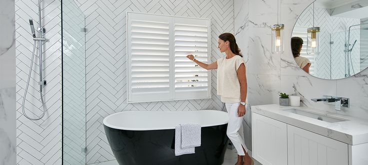 Mould resistant -  BATHROOM!  Luxaflex - Products - Shutters and Venetians - Polysatin Shutters Banner 2 v2 image