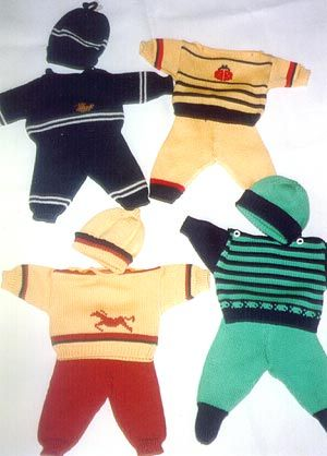 Strickmoden - Anleitung für Puppenkleidung Baby Born und Baby Annabelle