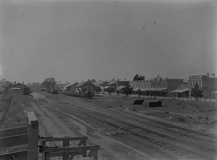 Morwell Gippsland Railway Station in 1890.