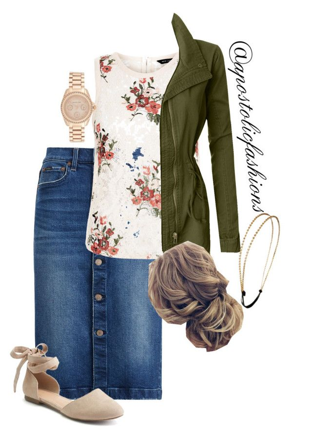 """Apostolic Fashions #1867"" by apostolicfashions on Polyvore featuring LE3NO, Apt. 9, Michael Kors and Chicnova Fashion"
