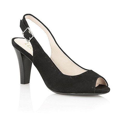 Lotus Black suede 'Faith' peep toe shoes- at Debenhams Mobile
