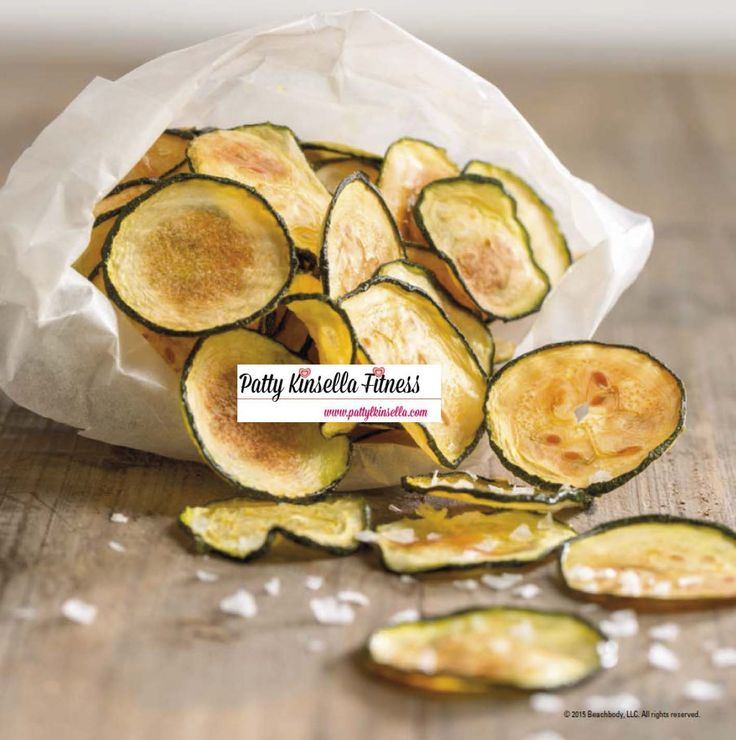 """21 Day Fix """"Fixate"""" Cookbook Sneak Peek recipe Zucchini Chips. Visit my blog for more healthy recipes & tips. www.pattylkinsella.com"""