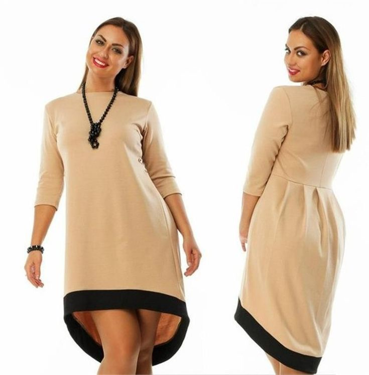5XL 6XL Large Size 2017 Spring Winter Dress Big Size Casual Red Black Dress Asymmetrical Dress Plus Size Women Clothing Vestidos Do you want it Visit our store