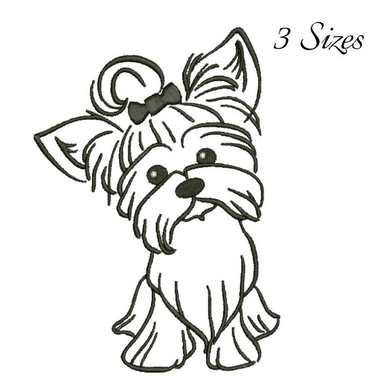 Yorkshire Terrier embroidery design machine embroidery design Digital Download  instant by GretaembroideryShop on Etsy