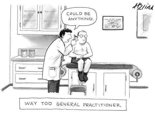 Funny Way Too General Practitioner Cartoon http://ibeebz.com