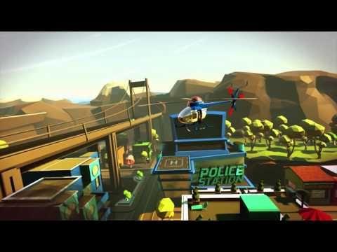 """60メートルの""""巨人""""警察官になって街を守るVRゲーム「Giant Cop」 悪い犯人はつまんで警察署へポイー - ねとらぼ"""