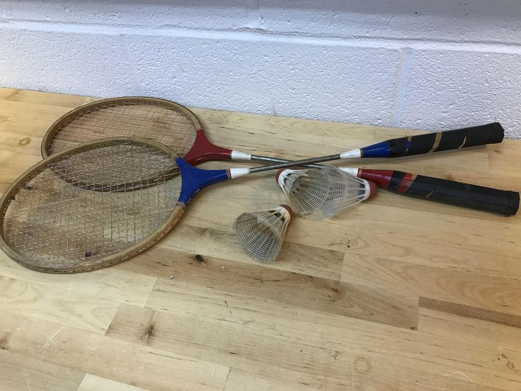 A personal favorite from my Etsy shop https://www.etsy.com/listing/529492521/badminton-racquets-and-birdies-vintage