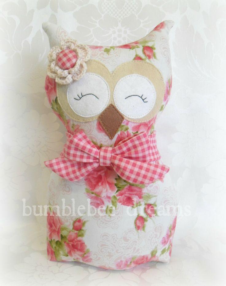 Handmade Owl Softie  https://www.facebook.com/bumblebeedreams