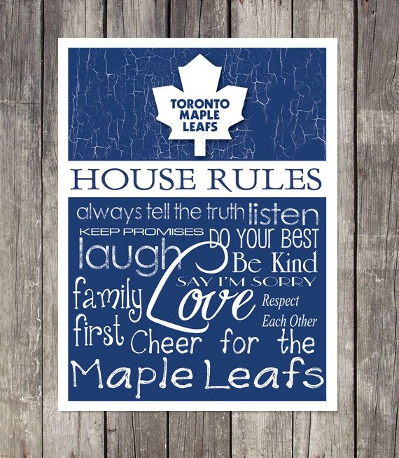 TORONTO MAPLE LEAFS House Rules Art Print by fanzoneimprintz