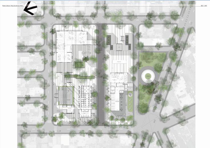 P.U.A (Parque Urbano Automotriz)  Planteamiento Urbano Final - Articulación Territorial / Aritmética Territorial y Proyecto Espacial