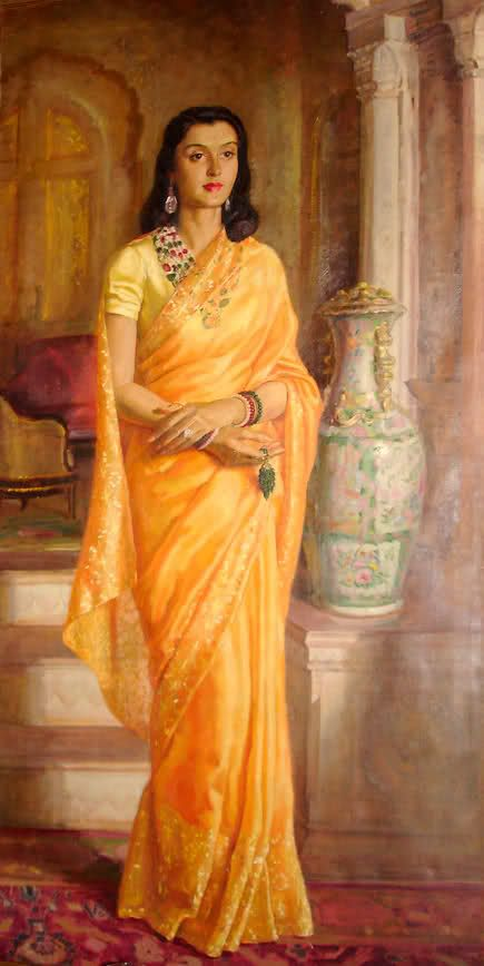 Painting of Maharani Gayatri Devi