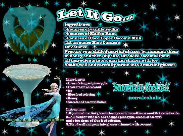Let it go.... Disney theme drinks