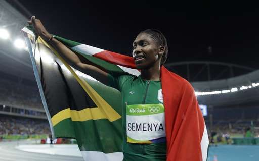 Chased by controversy: A timeline of Caster Semenya's career:  August 20, 2016  -     South Africa's Caster Semenya celebrates after winning the gold medal in the women's 800-meter final during the athletics competitions of the 2016 Summer Olympics at the Olympic stadium in Rio de Janeiro, Brazil, Saturday, Aug. 20, 2016. (AP Photo/Matt Slocum)