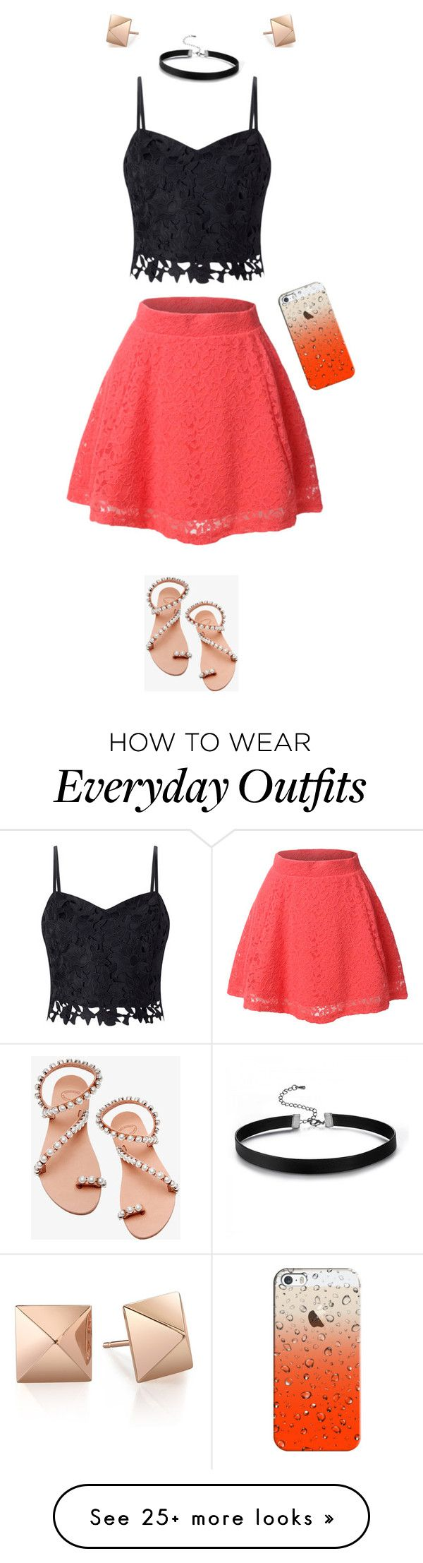 """Everyday outfit (designed by Isa)"" by lizziep123 on Polyvore featuring LE3NO, Lipsy, Elina Linardaki and Casetify http://amzn.to/2k2HTMQ"