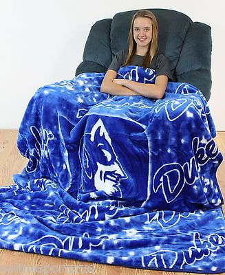 Duke University Blanket Raschel Knit