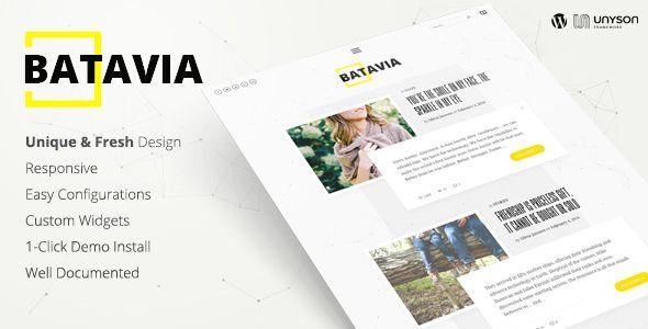Batavia | A Fresh WordPress Personal Blog Theme
