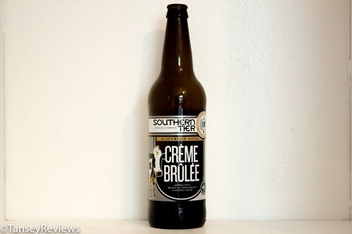 "Southern Tier Creme Brûlée, ""Serve this like you would serve a dessert wine or port, in a small glass with the appropriate dessert at the appropriate time. So what is the appropriate time? Around the fire with  marshmallows..."""