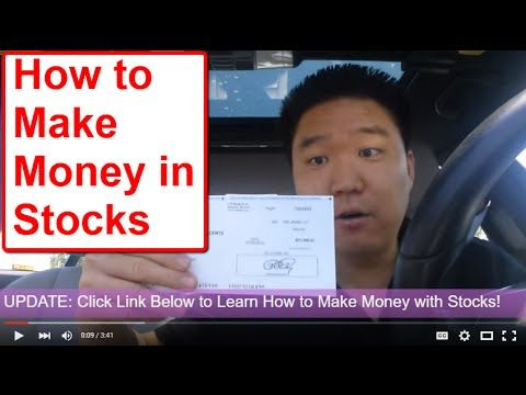 How to Make Money in Stocks - My Check! Stock Market Investing/Internet Marke...