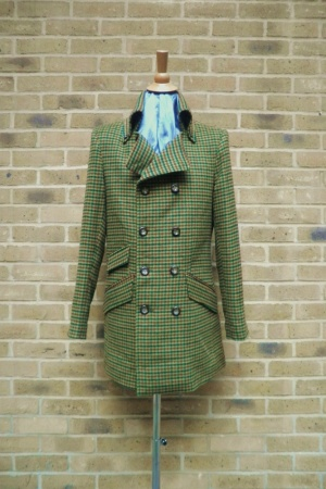 Mendoza Menswear » Avocado Green Check Turpin Coat