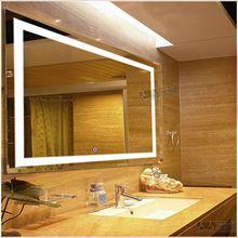 Fabrica directa barato pantalla táctil led02 iluminado baño espejo con luz led