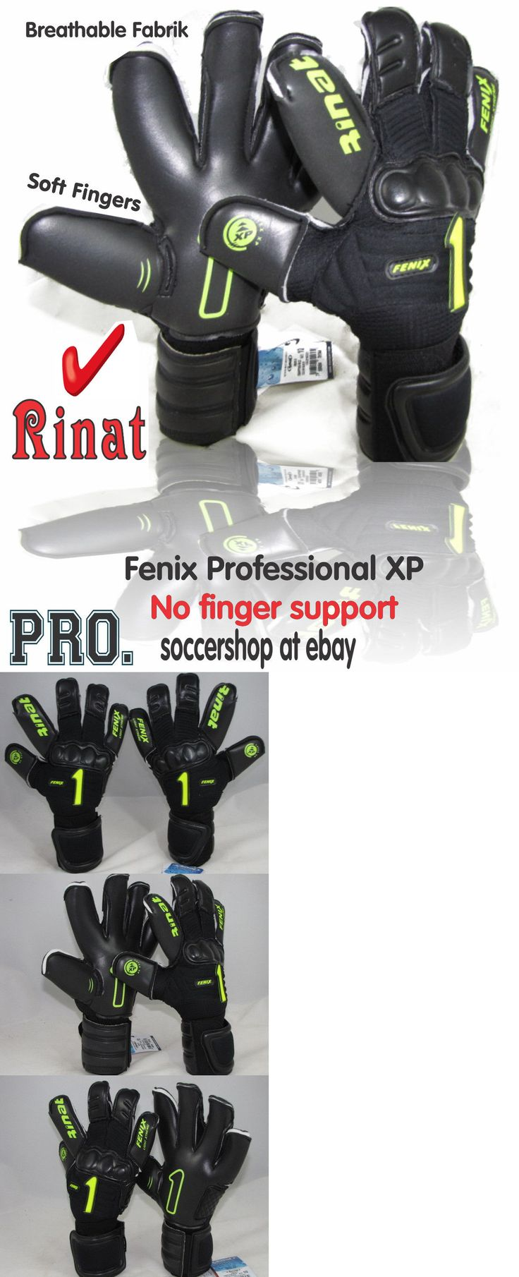 Gloves 57277: Rinat Goalkeeper Gloves Fenix Professional Xp (Blk Neon Size 10) No Finger Save -> BUY IT NOW ONLY: $49.49 on eBay!