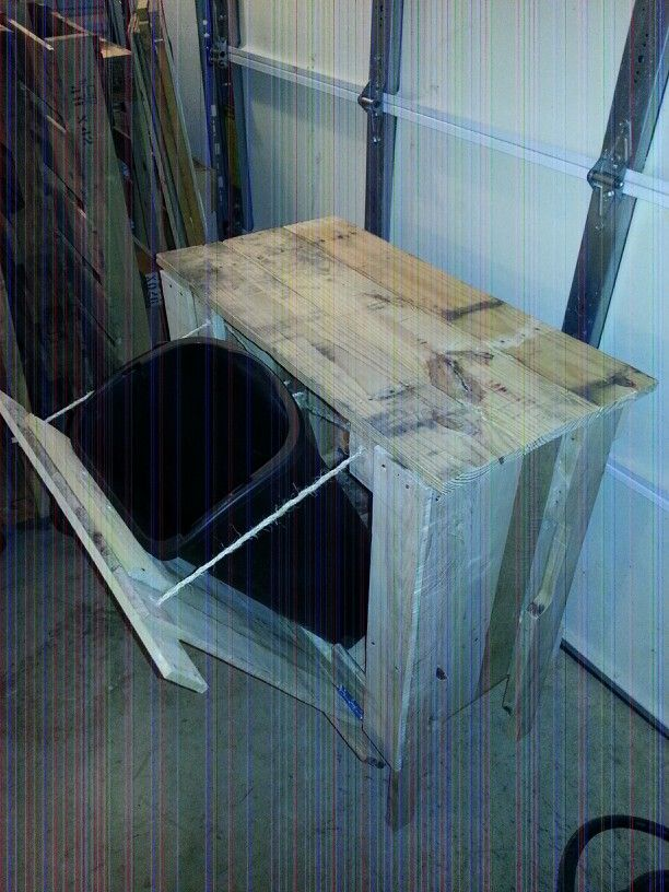 Pallet Trash Can Cabinet My Creations Pinterest