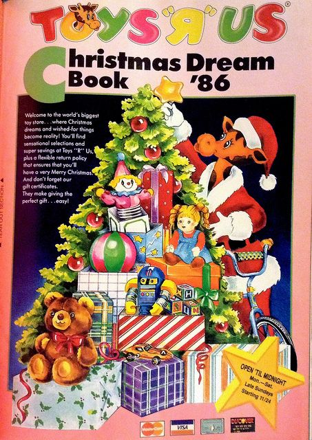 1986 toys r us christmas dream book catalog toys mattel